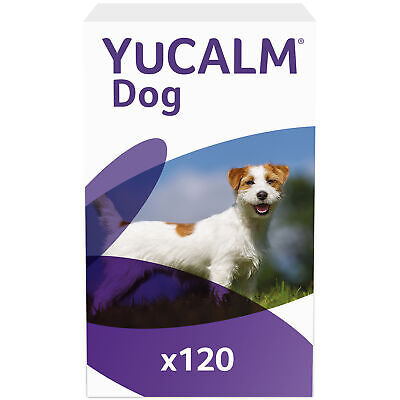 £67.99 • Buy Dog Calming Supplements Lintbells YuCALM Stress & Anxiety Tablets 120 X 2 Packs