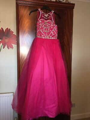 Girls Pink Dress Perfect For Pagents Or School Dances. Age 10/11 • 150£