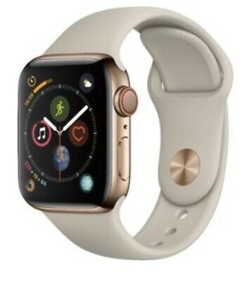 $ CDN782.23 • Buy Apple Watch Series 4 40 Mm Gold Stainless Steel Case With Stone Sport Band (GPS