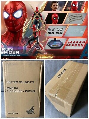 $265 • Buy Hot Toys Iron Spider MMS482 Avengers Infinity War Spider-man New In Shipper