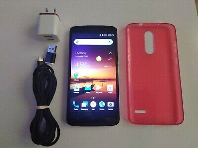 $45 • Buy AT&T ZTE Blade Spark 4G 5.5  16GB Prepaid Phone Grey Z971 Android Smartphone
