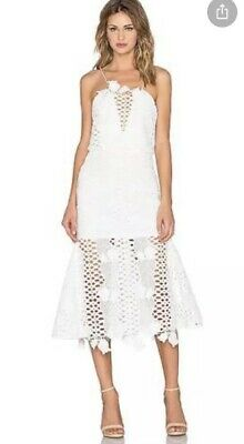 AU90 • Buy Alice Mccall White Formal Party Lace 'LoveLight' Dress Size 8
