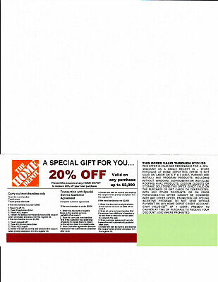 $10 • Buy 3 **20%* OFF HOME DEPOT Competitors Coupon At Lowe's Exp 07/31/20