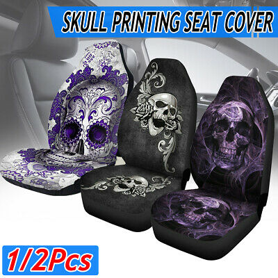 $ CDN26.28 • Buy Skull Pattern Universal Car Truck Comfortable Front Seat Cover Protector Cushion