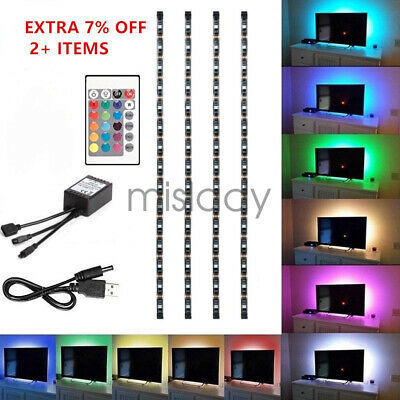 $3.75 • Buy 4Pcs USB Powered RGB 5050 LED Strip Lighting For TV Computer Background Light