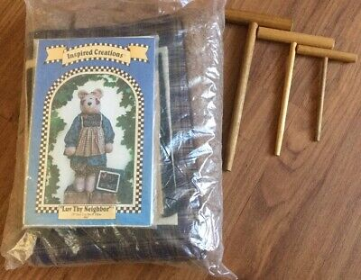 "AU28.95 • Buy INSPIRED CREATIONS ""Love Thy Neighbour"" 28"" Teddy Bear Making Kit Brand New"