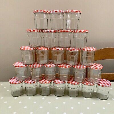 25 Bonne Maman 370g Jam Jars. Dishwasher Cleaned. Collect Fulham SW6 (2 Lots) • 25£