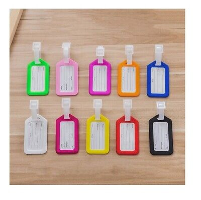 £1.60 • Buy Luggage ID Tags Colourful Label Name Address Suitcase Name Tag Travel 9x5cm