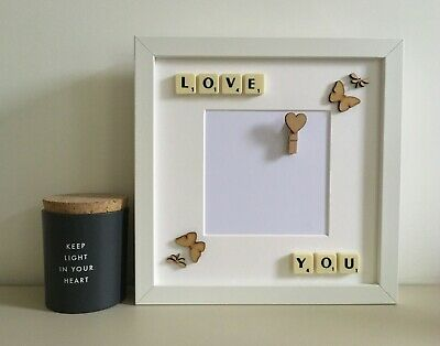 £25 • Buy (e) Scrabble Art Picture Love Photo Frame - Couples Any Occasion Valentines Day