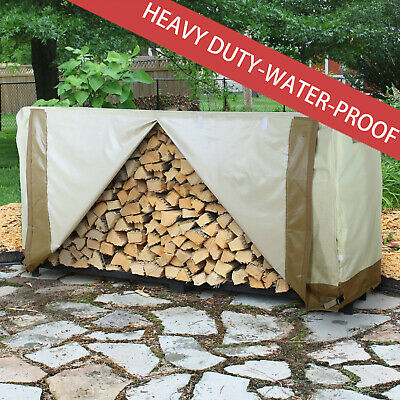New Large 8ft Log Store Rack Cover Wood Firewood Storage Large 8ft Cover • 24.99£