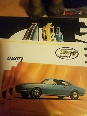 $1.79 • Buy Lot Of 5 1968 Chevy  Camaro Coupe    Postcards