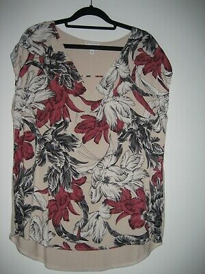 AU9.50 • Buy Witchery Floral Top Size M Fit 12 To 14