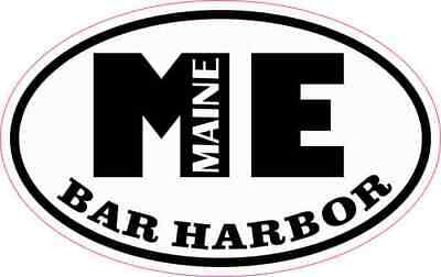 $5.99 • Buy 4in X 2.5in Oval ME Bar Harbor Maine Sticker Car Truck Vehicle Bumper Decal