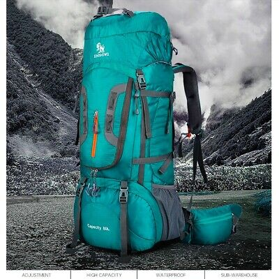 AU193.59 • Buy 80L Travel Hiking Trekking Backpack Rucksack Outdoor Backpacking Climbing Bag