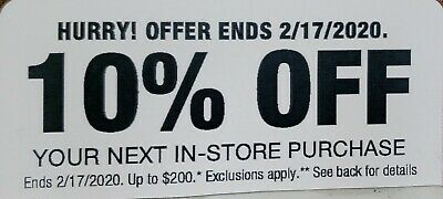 $45.99 • Buy Home Depot 10% OFF Coupon Save Up To $200-In-store Purchase . Exp Feb 17 2020