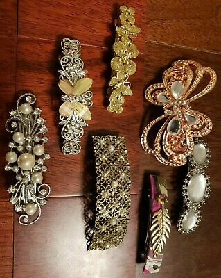 $13.95 • Buy Pretty Flower, Butterfly Gold, Silver Large Hair Clip Lot! Retro Vintage-Modern
