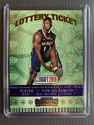 $1.25 • Buy 19/20 Contenders ZION WILLIAMSON RC Lottery Ticket Rookie Pelicans #1