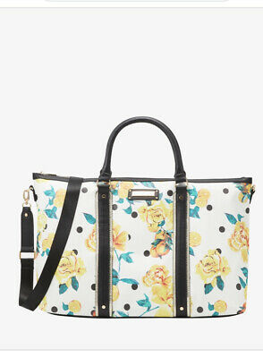 £29.99 • Buy River Island BLACK FLORAL HOLDALL BAG - Gym Weekend Bag New With Tags