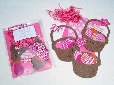 Easter Baskets Craft Kit / Children / New / Cardmaking / Party • 1.25£