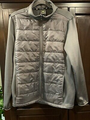 $7 • Buy TEK GEAR Mens S Small Full Zip Jacket Coat Gray Quilted NWOT Youth XL