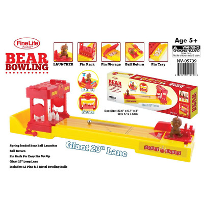 $23.99 • Buy Finelife Bear Bowling Alley GameTabletop Bowling Game With Spring-Loaded Bear
