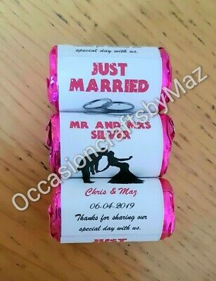 £5.50 • Buy Love Heart Sweets Wrappers/personalised Wedding Favours/diy Wedding