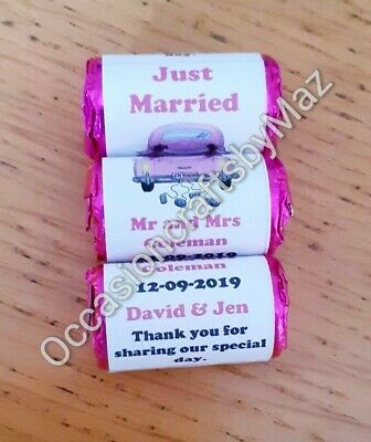 £2.80 • Buy Love Heart Sweets Wrappers/ Personalised Wedding Favours/diy Wedding