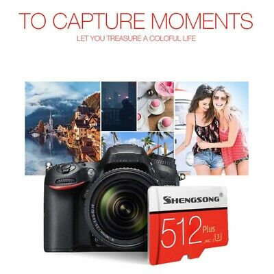 $10.99 • Buy 4-512 GB SD-Card U3 Class 10 High-Speed-Memory Card For Mobile Tablets Cameras