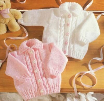 £1.99 • Buy Easy Knitting Pattern Baby Childrens Aran Cardigan Cable Design 16-26