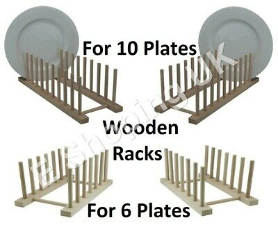 Wood Wooden Dish Drainer Kitchen Sink Plate Storage Rack Tidy Drying Stand New • 11.45£