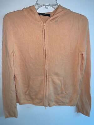 $54.95 • Buy Lord & Taylor Wonen's 100% Two Ply Cashmere Zip Hoodie Sweater Size Small