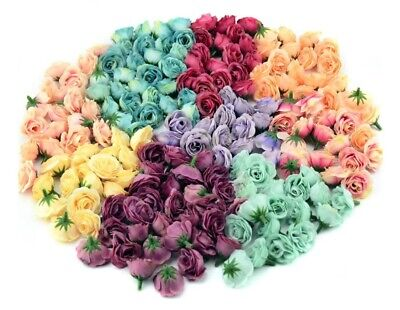 £3 • Buy Rose Bud Decorative Synthetic Flowers Faux Silk Home Wedding Craft 2.5cm Buds