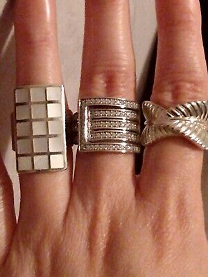 $ CDN19.71 • Buy Lot Of Sterling Silver Rings Size 5