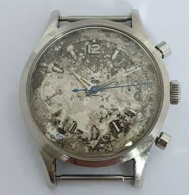 $ CDN2234.82 • Buy Vintage Heuer 3336 Chronograph Project Valjoux 22 Jumbo 37mm Case