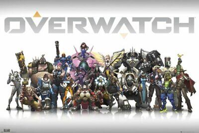 AU11.95 • Buy Overwatch Characters Poster