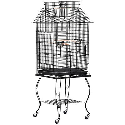 £57.99 • Buy PawHut Large Metal Bird Cage Aviary Parrot Budgie Canary Pet With Stand&Wheels