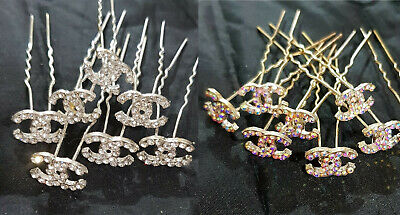 Bridal Wedding Prom Silver Crystal Diamante Rhinestone Hair Pins Clips Grips UK • 1.99£
