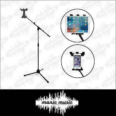 AU58.99 • Buy Tablet Tripod Floor Stand + Boom  360° Universal Clamp Mount Holder IPad Android
