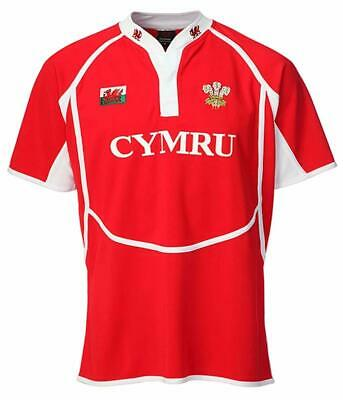 £23 • Buy Wales Dragon Rugby Shirt Short Sleeve Red And White Men's Wear/Clothing  Manav