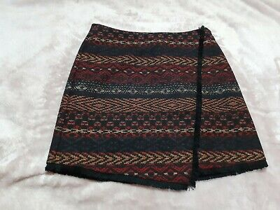 Intuition Size 8 Asymmetric Ethnic Print Multicoloured Mini Skirt- Immaculate 💕 • 8.99£