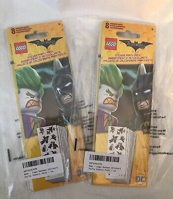 $6.50 • Buy Lot Of 32 Lego Batman Stickers Party Favors Pack: NIP