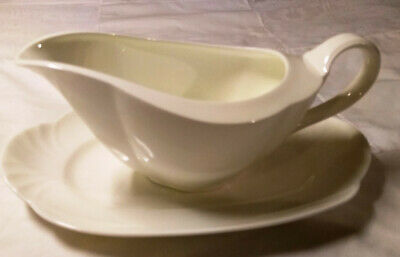 Gravy Boat & Underplate (Relish) Arco Weiss By Villeroy & Boch Bone China • 38.41£