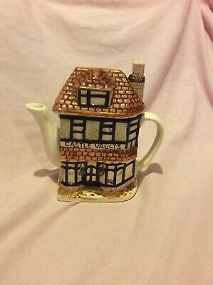 Castle Vaults Thatched Cottage Teapot, Leonardo, Collectable, Impressed B Mark • 6.50£