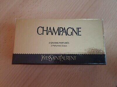CHAMPAGNE PERFUMED SOAPS SAVON GIFT BOX100%AUTHENTIC SEALED BEYOND RARE 2x YSL • 50£