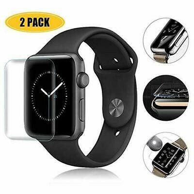 AU7.54 • Buy 2X Apple Watch 5 4 3 2 1 3D Tempered Glass Full Screen Protector 38/42/40/44mm