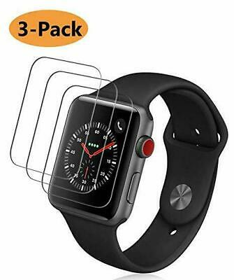 AU13.49 • Buy 3X Glass Screen Protector For Apple Watch Series 1/2/3/4 38/42mm 40/44mm IWatch