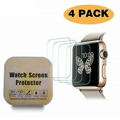 AU13.99 • Buy 4X Glass Screen Protector For Apple Watch Series 1/2/3/4 38/42mm 40/44mm IWatch
