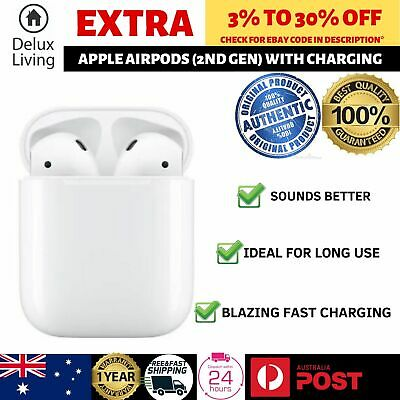 AU252.68 • Buy Apple AirPods (2nd Gen) With Wireless Charging Case MRXJ2ZA/A - White