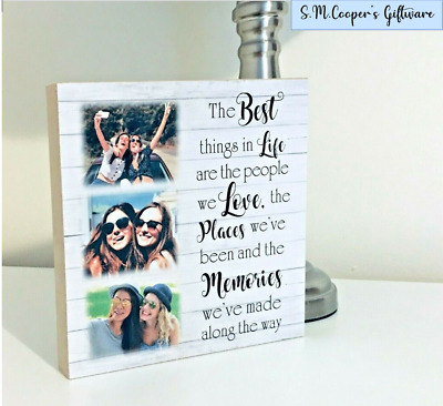 PERSONALISED FRIENDSHIP GIFT BEST FRIEND Large Freestanding Photo Plaque Block • 12.99£