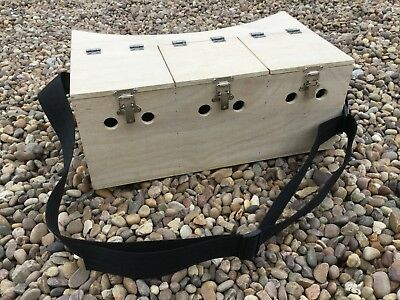 Treble Bow Back Ferret Box 3 Separate Compartment Hunting Rabbiting Ferreting • 35£